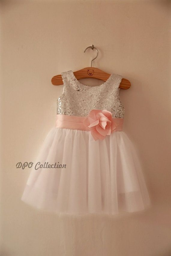 Champagne gold silver sequins light grayivory tulle flower girl champagne gold silver sequins light grayivory tulle flower girl dress baby girl dress with mightylinksfo