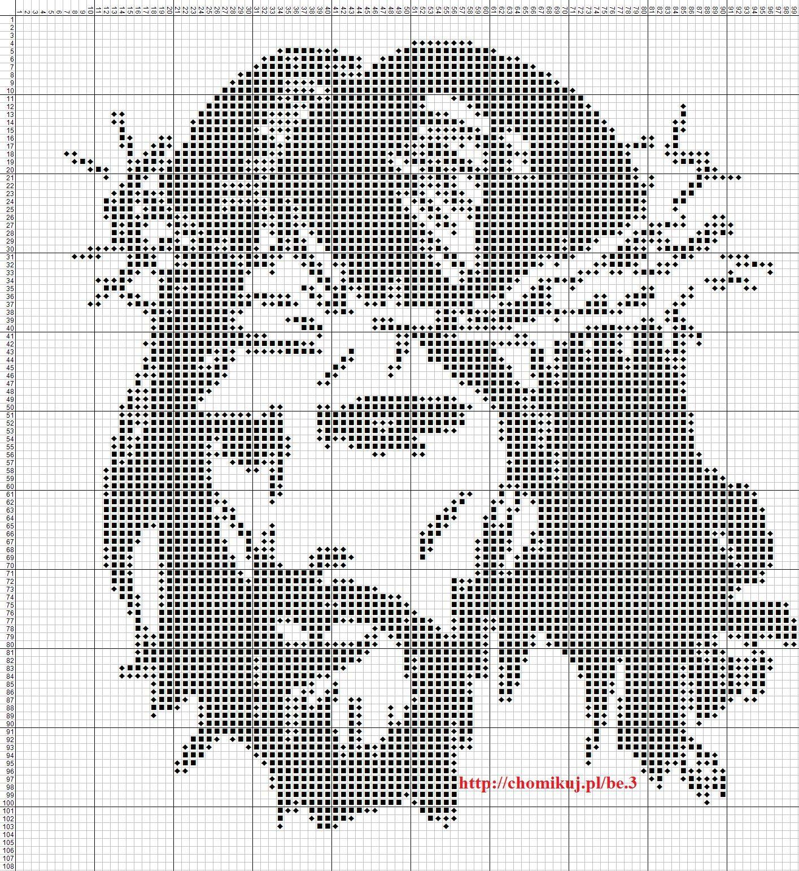 Pin de Ewa en wzory krzyżykowe | Pinterest | Religiosas, Punto de ...