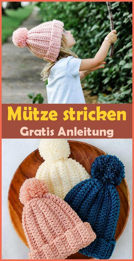 Photo of Strickmütze – freie & einfache Anleitung f – Kleiner Balkon Ideen ,  #Anleitung #babydeckesit…