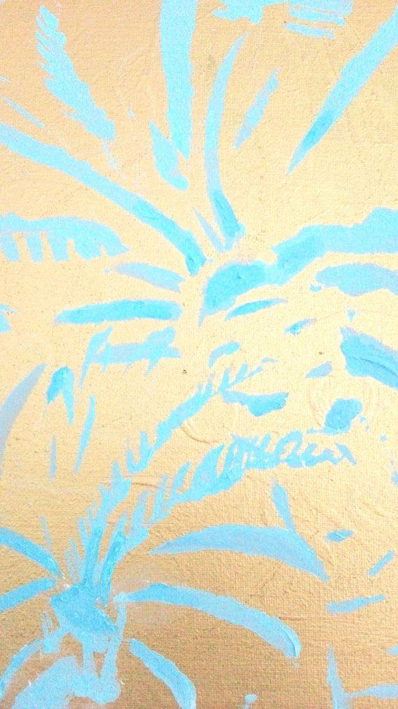 Acrylbild Palme Detail III  gerahmt 24 x 30 cm  Acryl auf