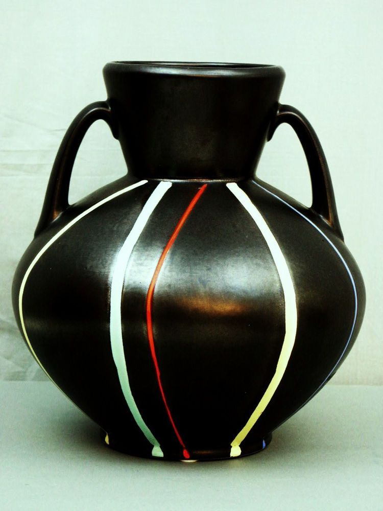 MID CENTURY WEST GERMANY WACHTERSBACH  ART POTTERY VASE  PISA  URSULA FESCA  12""