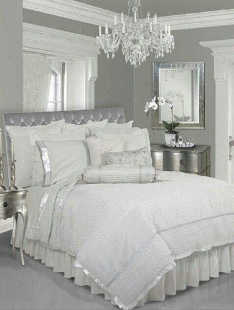 silver gray white bedroom pinterest bedroom white bedroom and rh pinterest com