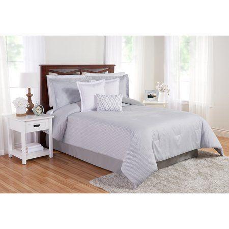 better homes gardens neutral stripe 7 piece comforter set full rh in pinterest com
