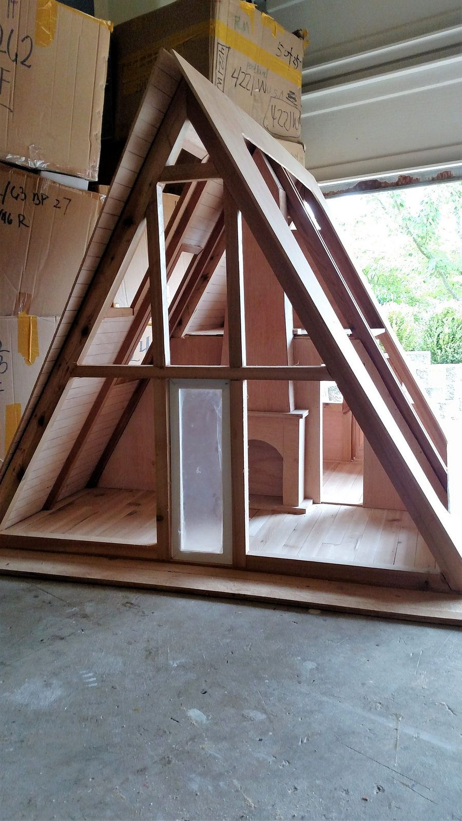 1 6 Scale A Frame Cabin Project A Frame Cabin Triangle House