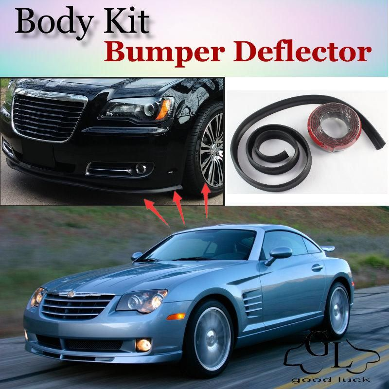 Bumper Lip Deflector Lips For Chrysler Crossfire Front Spoiler