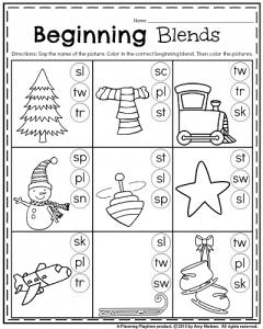 Beginning Blends Worksheets - S Blends Worksheets by Learning Desk