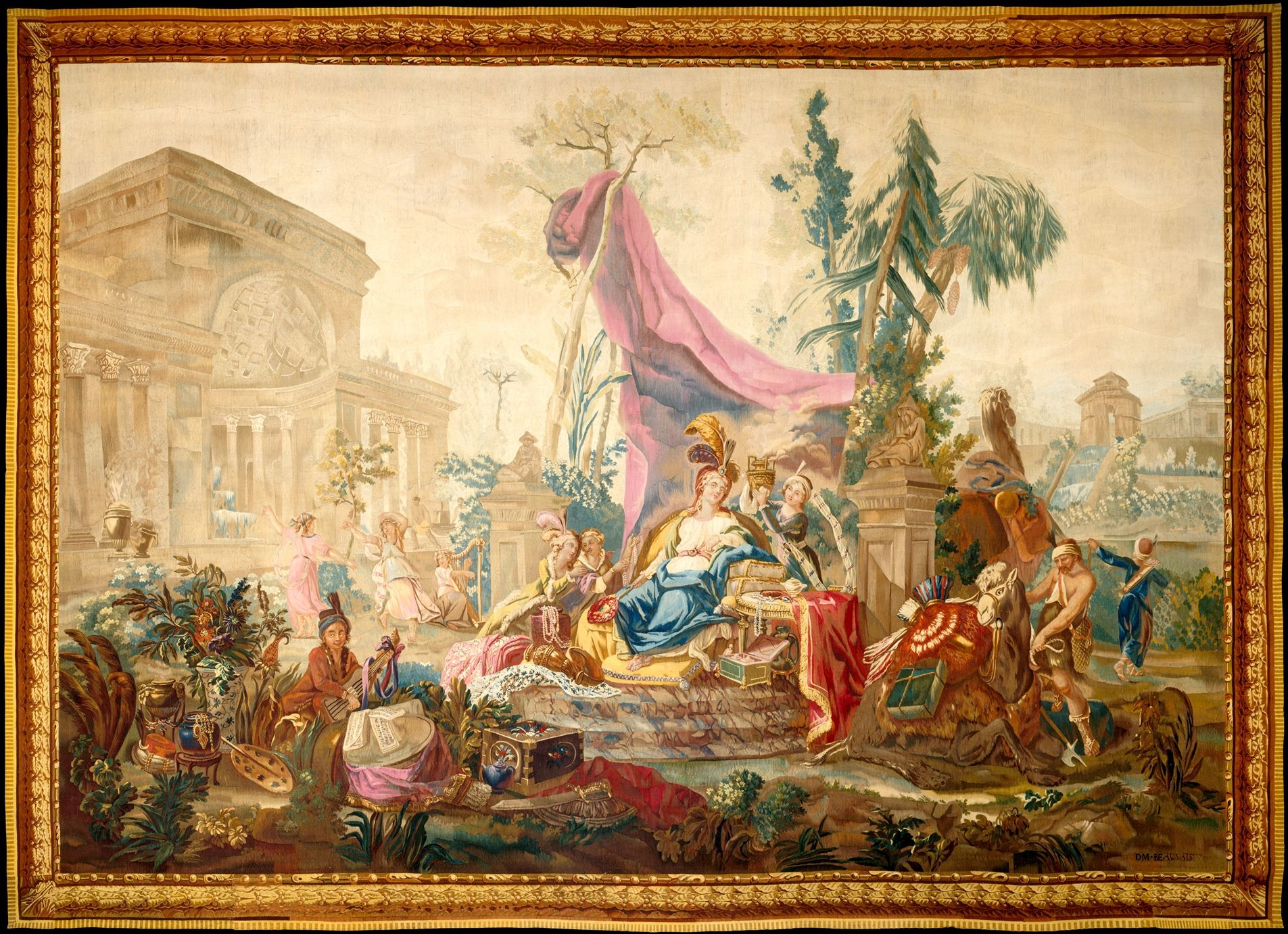 Asia From A Set Of The Four Continents Jean Jacques François Le Barbier French Rouen 1738 1826 Paris Designed Ca 1786 Woven 1790 Tapestry Continents Art