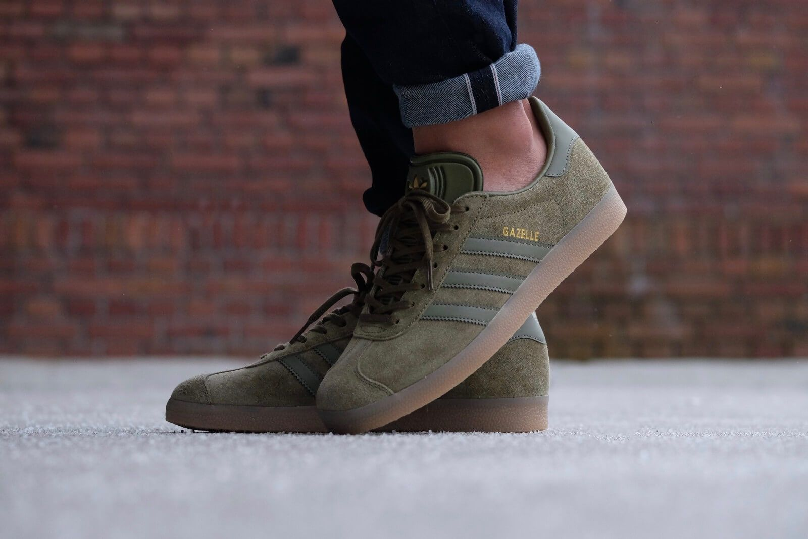 the best attitude b084f 16285 Adidas Gazelle Olive CarbonGum - BB5265