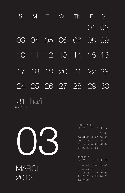 Minimalistic Calendar Design : Wall calendar hayes architecture minimalist