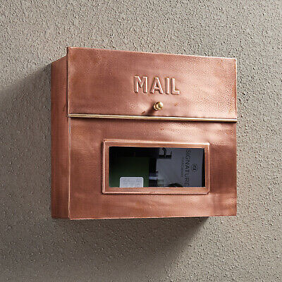 Find Many Great New Used Options And Get The Best Deals For Signature Hardware Pikeville Wall Mount Copper In 2020 Copper Mailbox Signature Hardware Mounted Mailbox