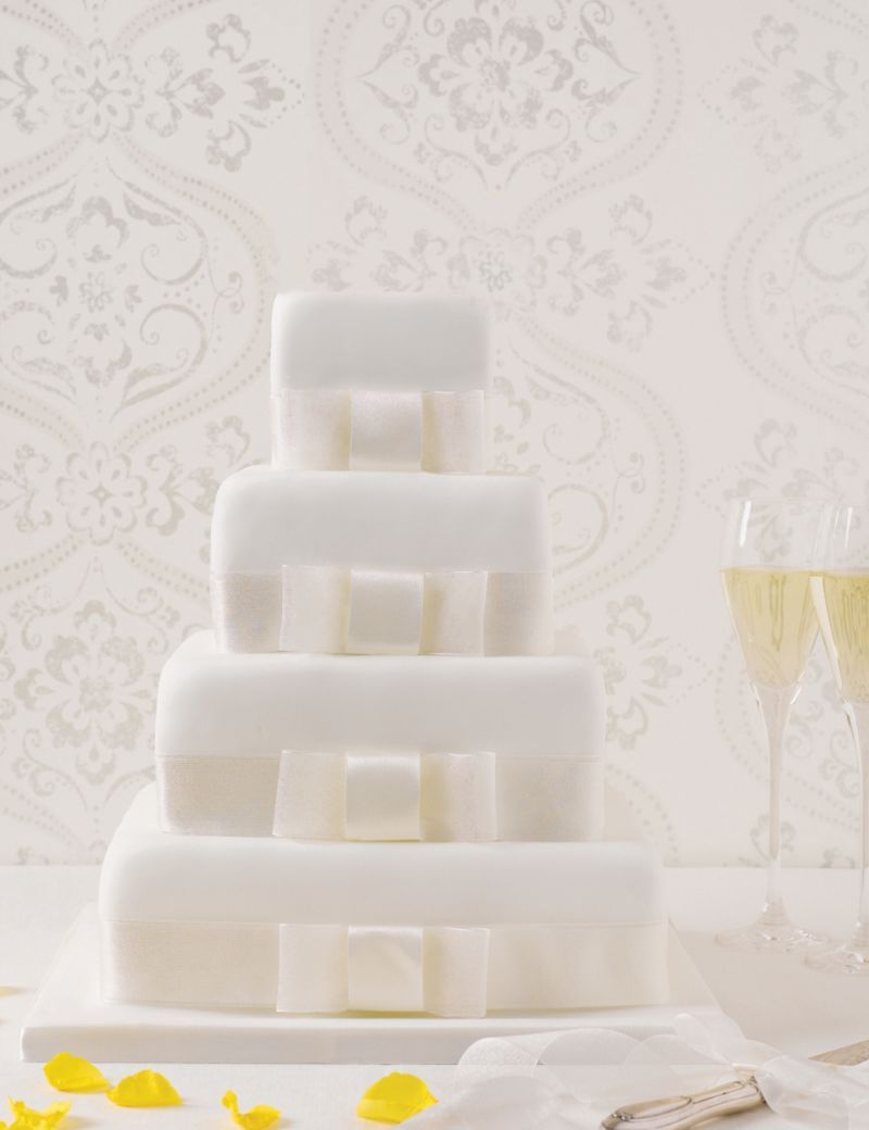 4 Tier Elegant Assorted Wedding Cake   M&S   Wedding   Pinterest ...