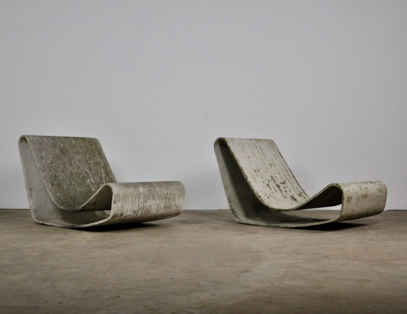 Marvelous Set Of 2 Loop Lounge Chairs By Willy Guhl For Eternit Sa Customarchery Wood Chair Design Ideas Customarcherynet