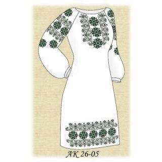 АК 26-05 Бисерная заготовка платья (тм