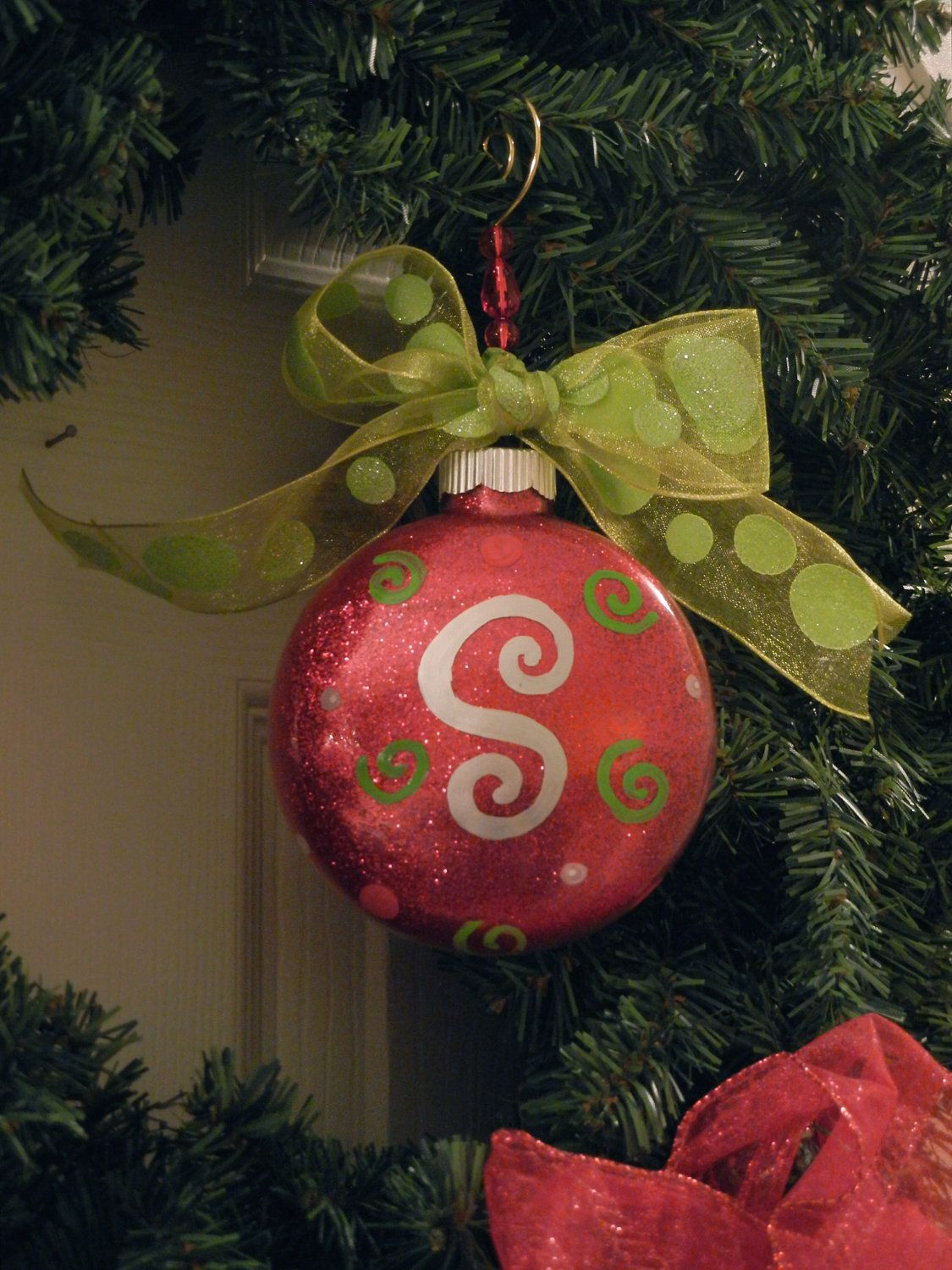 Find This Pin And More On Ornaments By Tdhenline Personalized Initial Christmas Ornament Poshpolkadotstudios