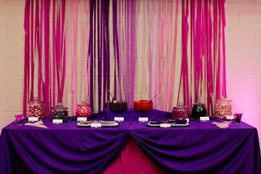 wedding shower candy buffet ideas%0A pink and purple candy table buffet