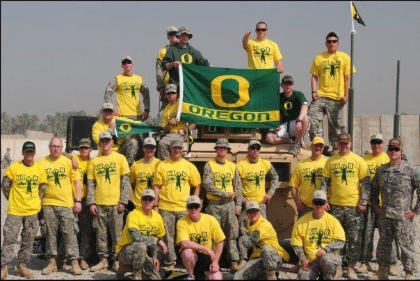Support the Troops!! | Ducks football, Oregon ducks, Charmer