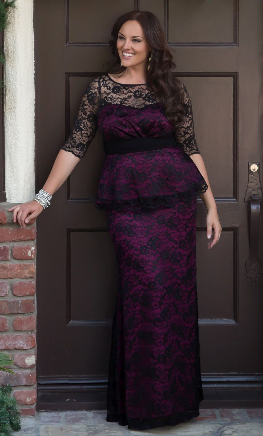 Feel like the belle of the ball in our astoria lace peplum gown