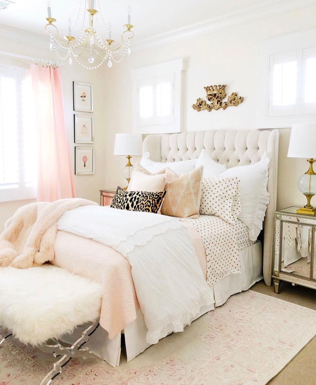 Pin By Wanda Marin On Guest House Tween Girl Bedroom Pink Gold