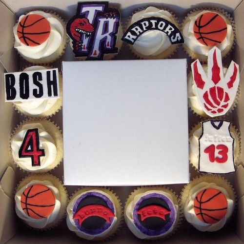 Toronto Raptors Cupcakes
