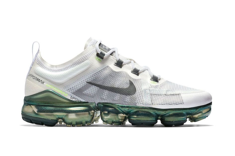 "Nike Air Vapormax 2019 PRM ""White Lime"" Oregon Green Color AT6810-100  January 85a71da0f964"
