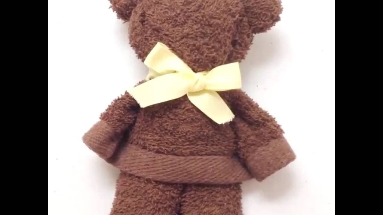 A Bear Made From A Towel 5 Minute Crafts Pliage