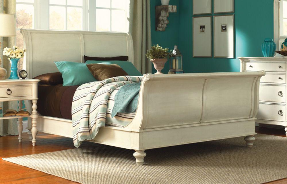 Legacy Classic Furniture Glen Cove Sleigh Bed In Cream
