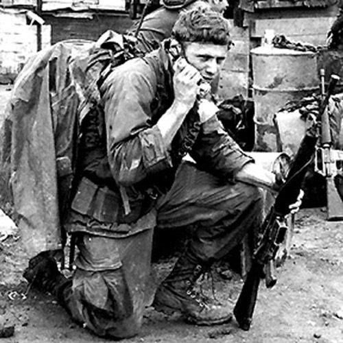 5th Battalion, 46th Infantry Regiment, 198th Light Infantry Brigade. A recon RTO is saddled up with his gear, 1970.
