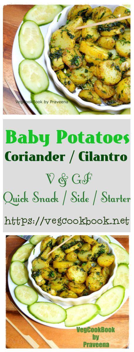 Coriander Baby Potates Recipe Recipes Indian Food Recipes Healthy Plant Based Recipes