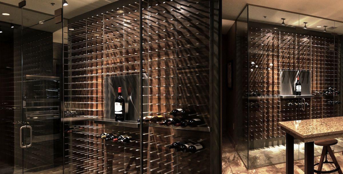 Modern Wine Cabinet Design modern wine cellars belong in the kitchen. not hidden in a dark