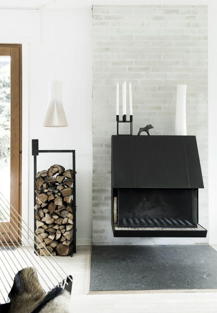 Kaminholz lagern – Originelle und stilvolle Ideen zur Brennholz