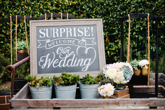 Surprise California Wedding Deena Michael Love This Idea