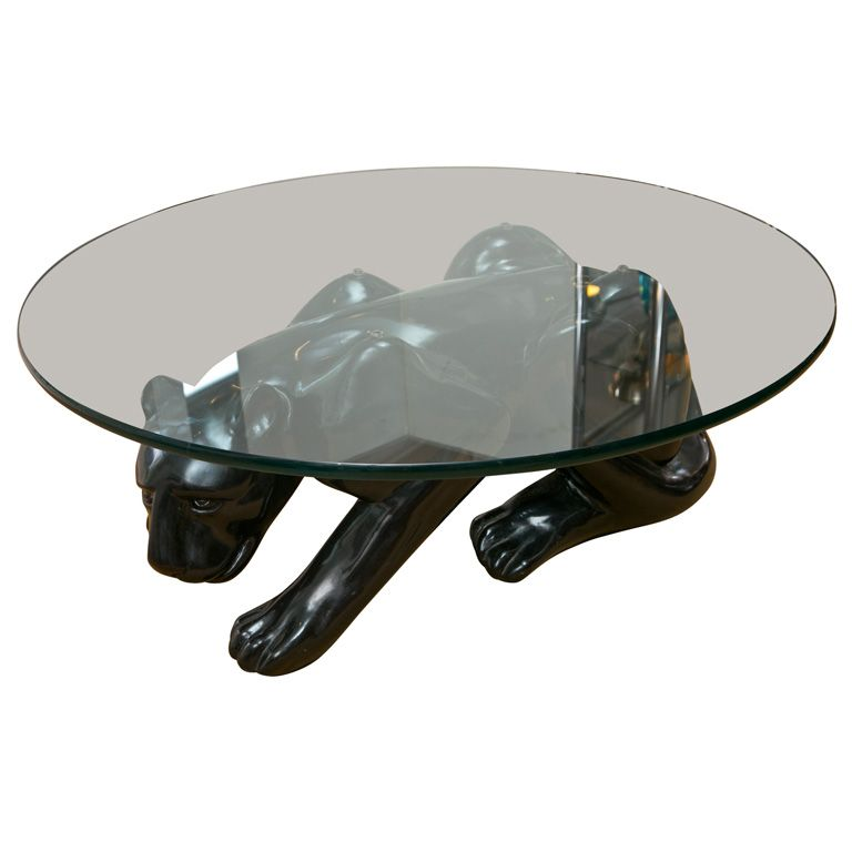 Black Panther Cocktail Table Usa 1970 S The Black Panther Is Posed