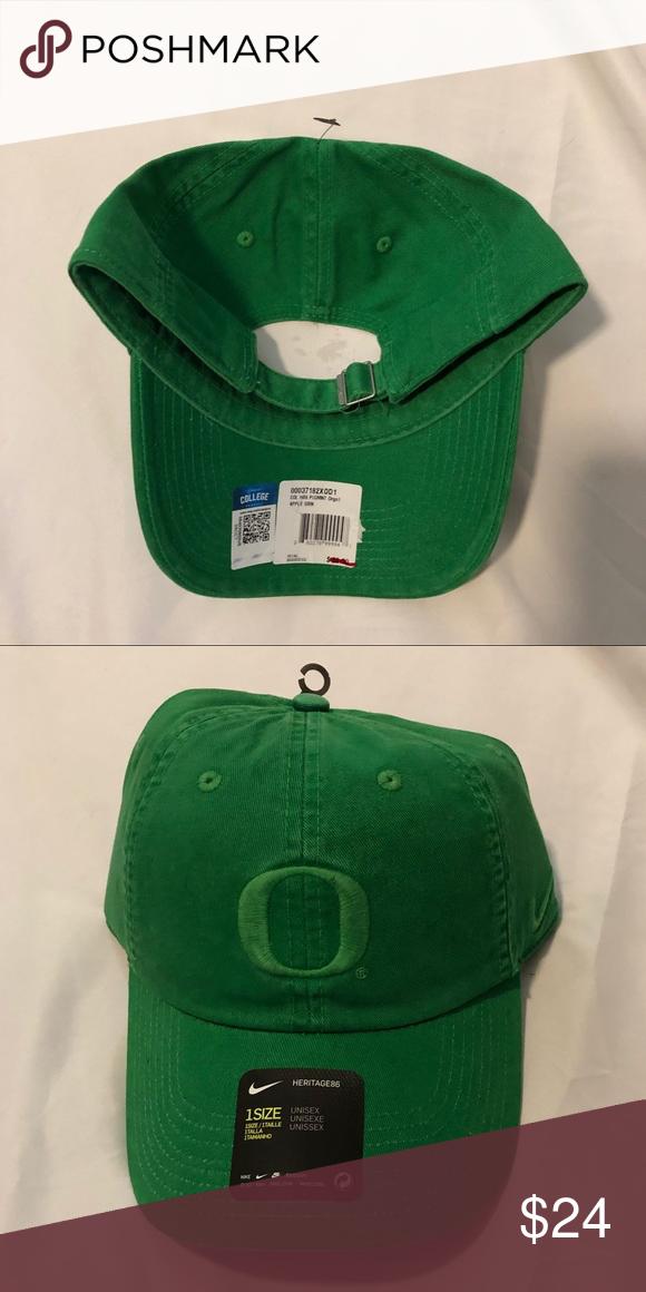 promo code 085fa a4516 NWT Oregon Ducks Nike H86 Pigment Adjustable Hat Oregon Ducks Nike H86  Apple Green Pigment Adjustable