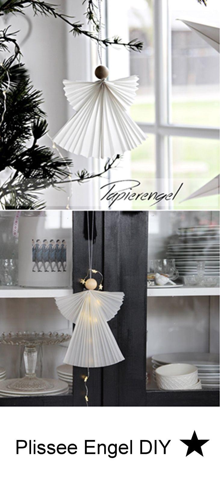 diy wie du diese zauberhaften plissee engel selber machen. Black Bedroom Furniture Sets. Home Design Ideas