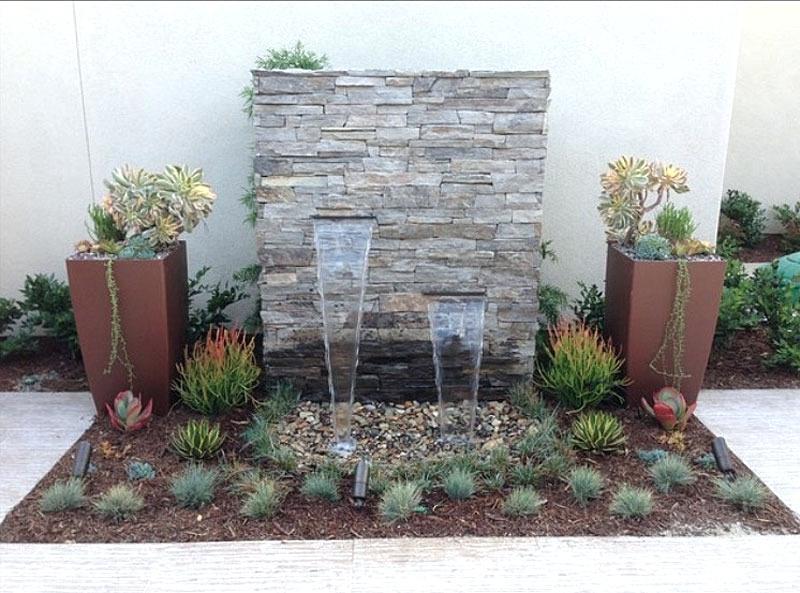 Modern Concrete Wall Water Google Search Garden Water