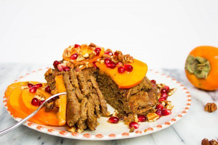 dessert mit kaki frucht selber machen, küchen mit persimonen und - küchen selber gestalten