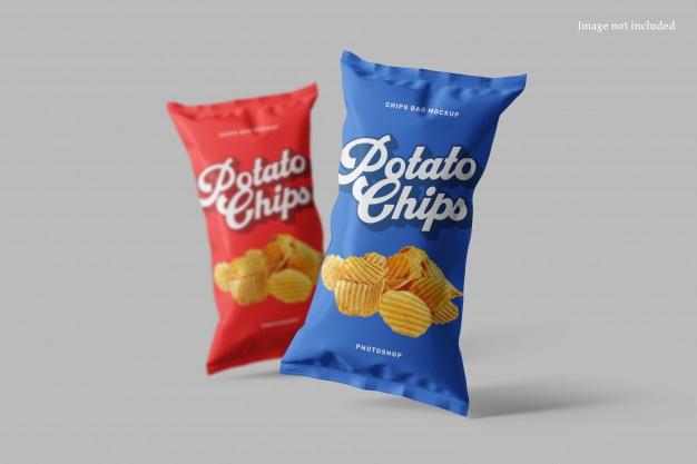 Download Chips Bag Mockup In 2020 Chips Chip Packaging Foil Packaging
