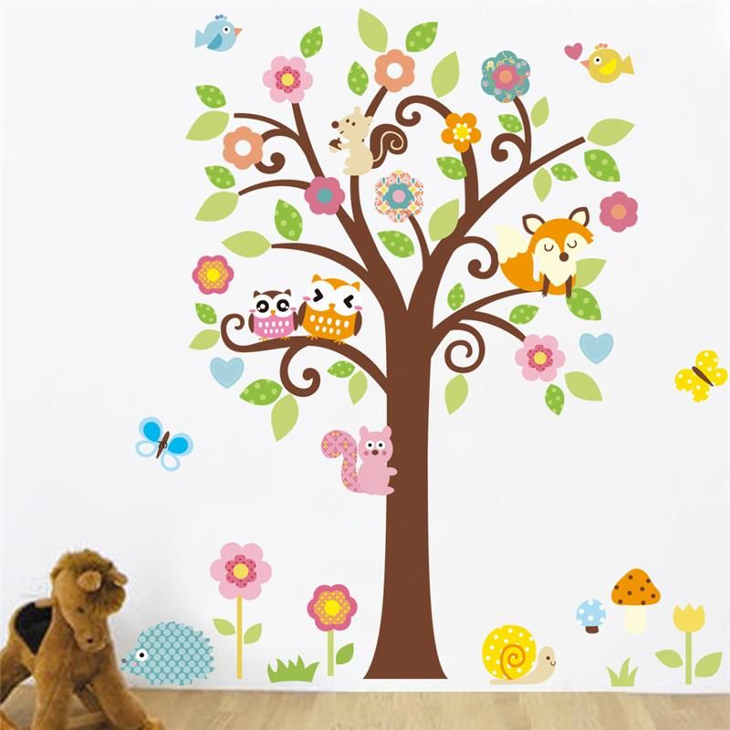Cheap sticker auto buy quality sticker mirror directly from china stickers uk suppliers cute wise owls tree wall stickers for kids room decorations