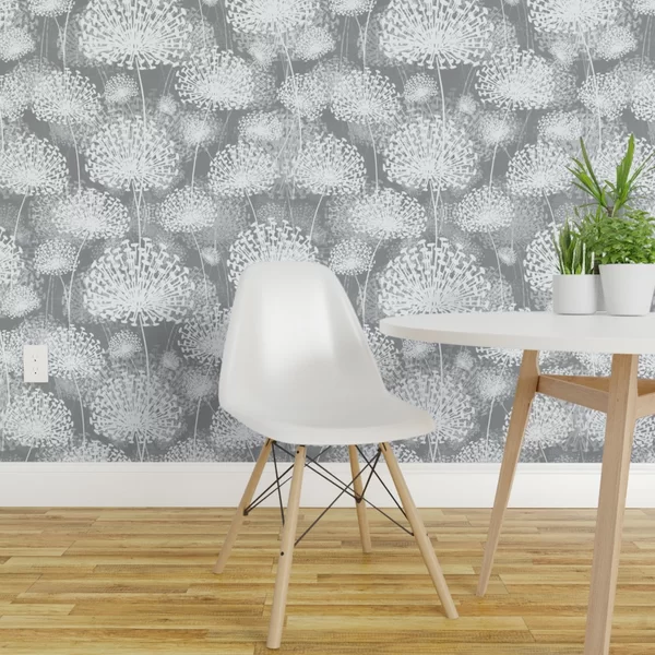 Bungalow Rose Featherston Dandelions Removable Peel And Stick Wallpaper Roll Wayfair Removable Wallpaper Quick Decor Linen Wallpaper