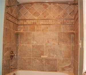 Pretty Tile Tub Surround Uses Four Types