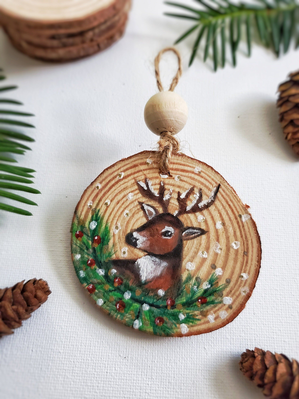 Reindeer Ornament Wood Slice Ornament Christmas Ornament Etsy Christmas Ornament Crafts Christmas Ornaments Diy Christmas Tree Ornaments