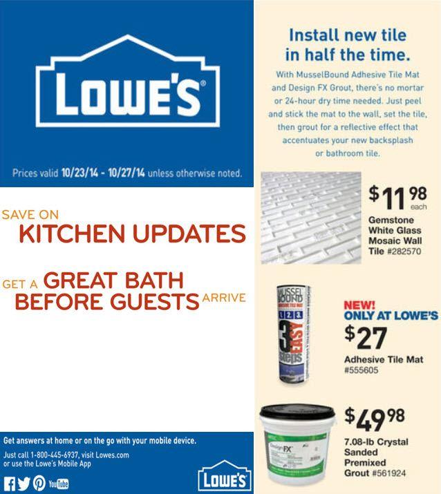 Lowe S Flyer Install Tile In