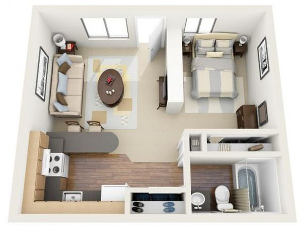 18 Coolste Studio Wohnung Layout #apartmentroom