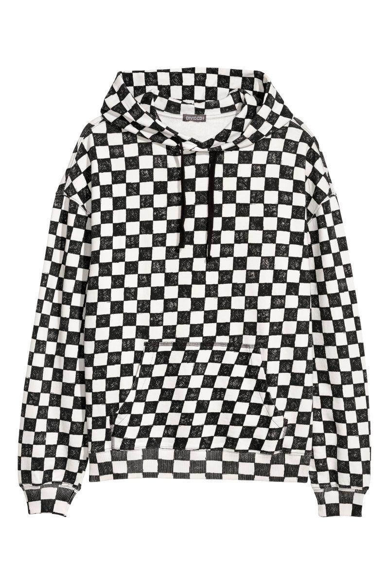 5434c3520c2 Hooded Checkerboard Sweatshirt