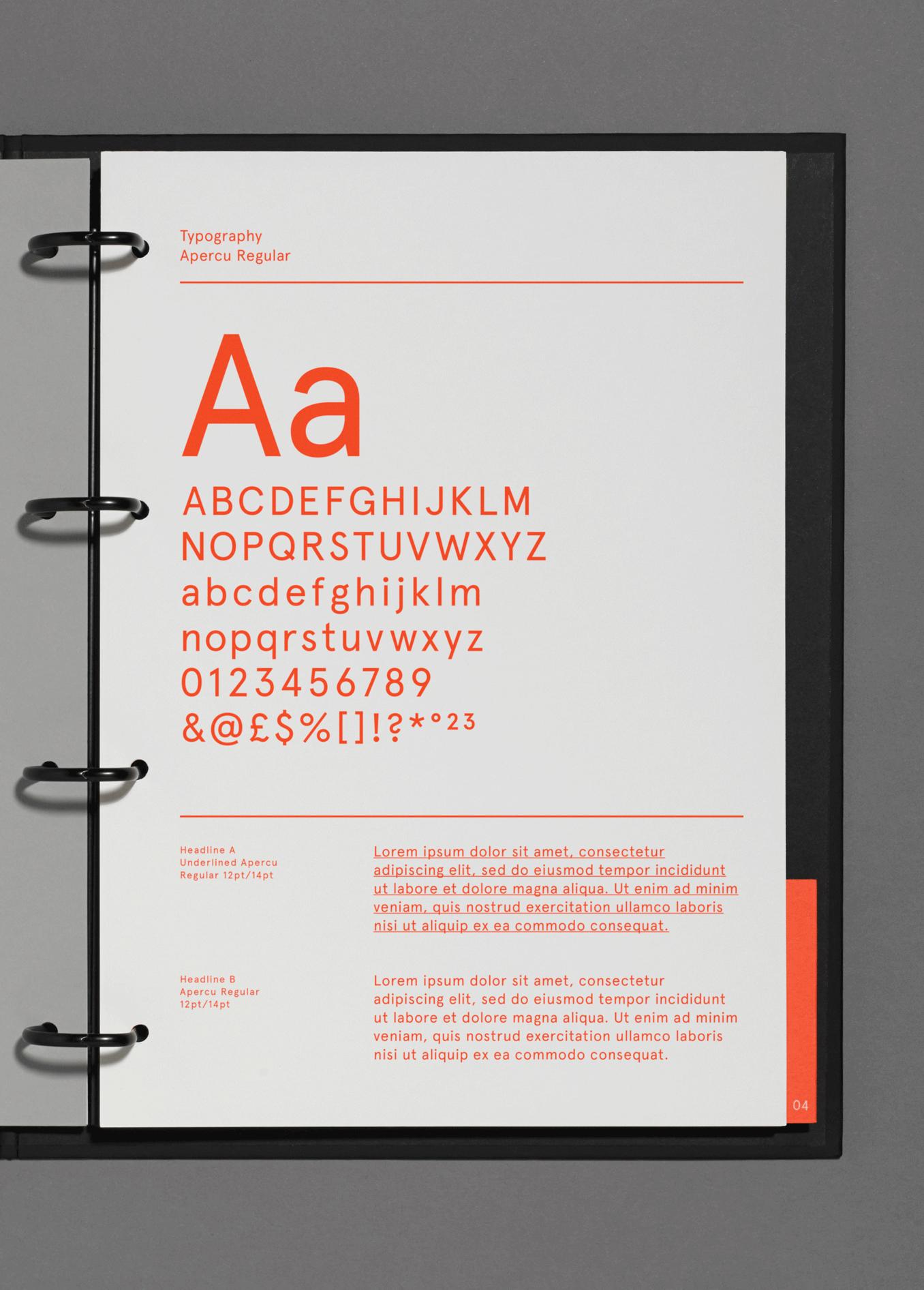 MET – Experience Design / Branding / Identity / Design / Logo / Experiential / Square / Bright / Colour Palette / Orange / London / Hong Kong / Mexico City / Folder / Typography / Apercu / Guidelines