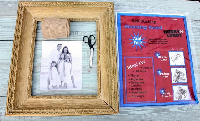 How to Make a Burlap Mat for a Picture | Pinterest | Hessian ...