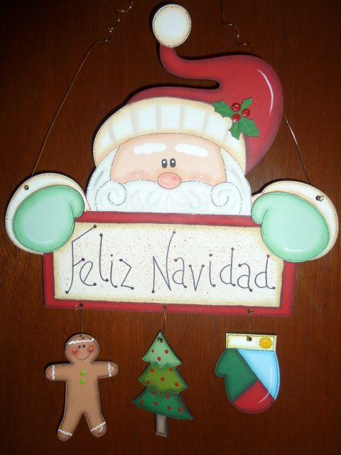 Letrero Santa En Mdf Madeiras Macamno1 Hotmail Com Madera Navidad Manualidades Navideñas Manualidades