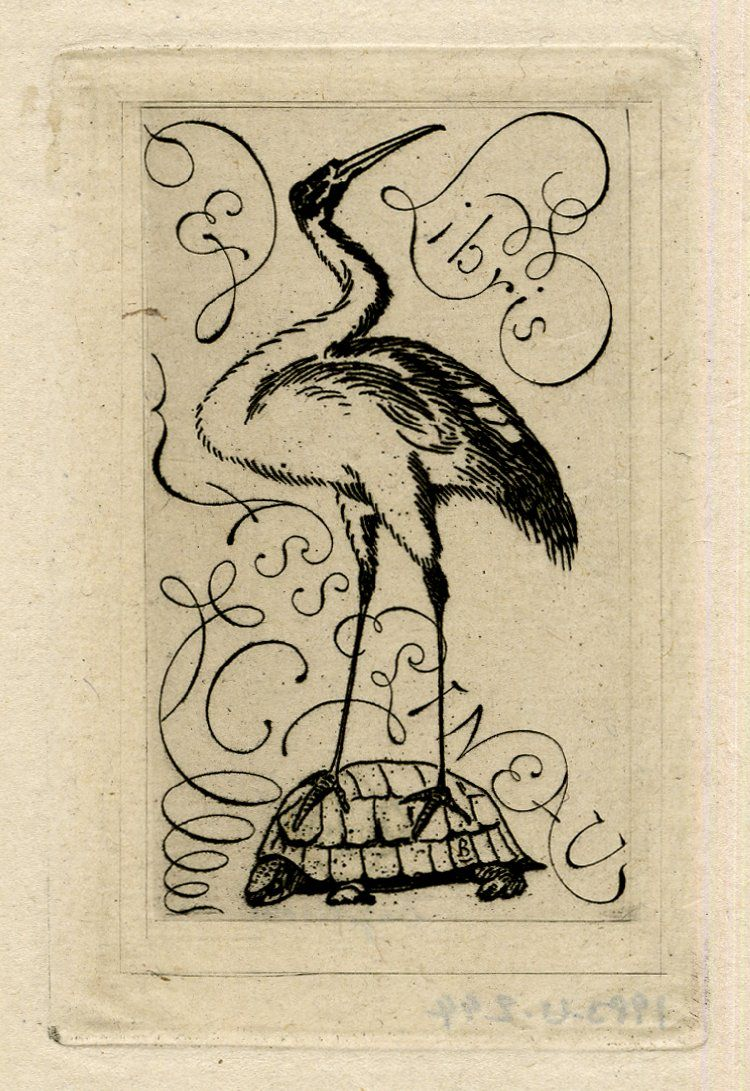 Ex libris 1866 asselineau the symbol of a crane perched on a ex libris 1866 asselineau the symbol of a crane perched on a biocorpaavc Gallery