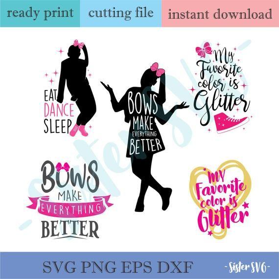 Jojo siwa svg bundle, Bows make everything better Svg, My