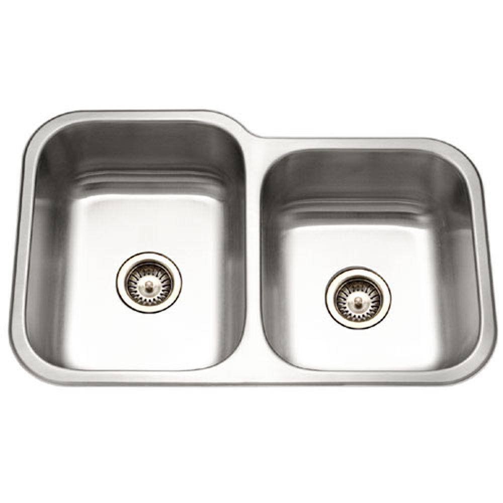 Ceco sinks kitchen sink - Houzer Ec 3208sr 1 Elite Series Undermount Stainless Steel 60 40 Double Bowl